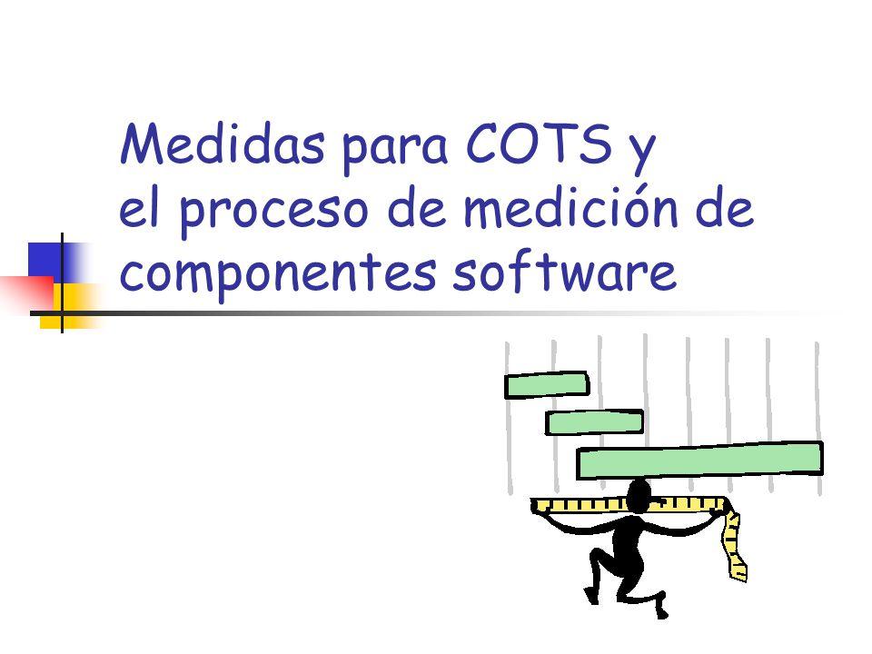Medidas para COTS y el proceso de medición de componentes software