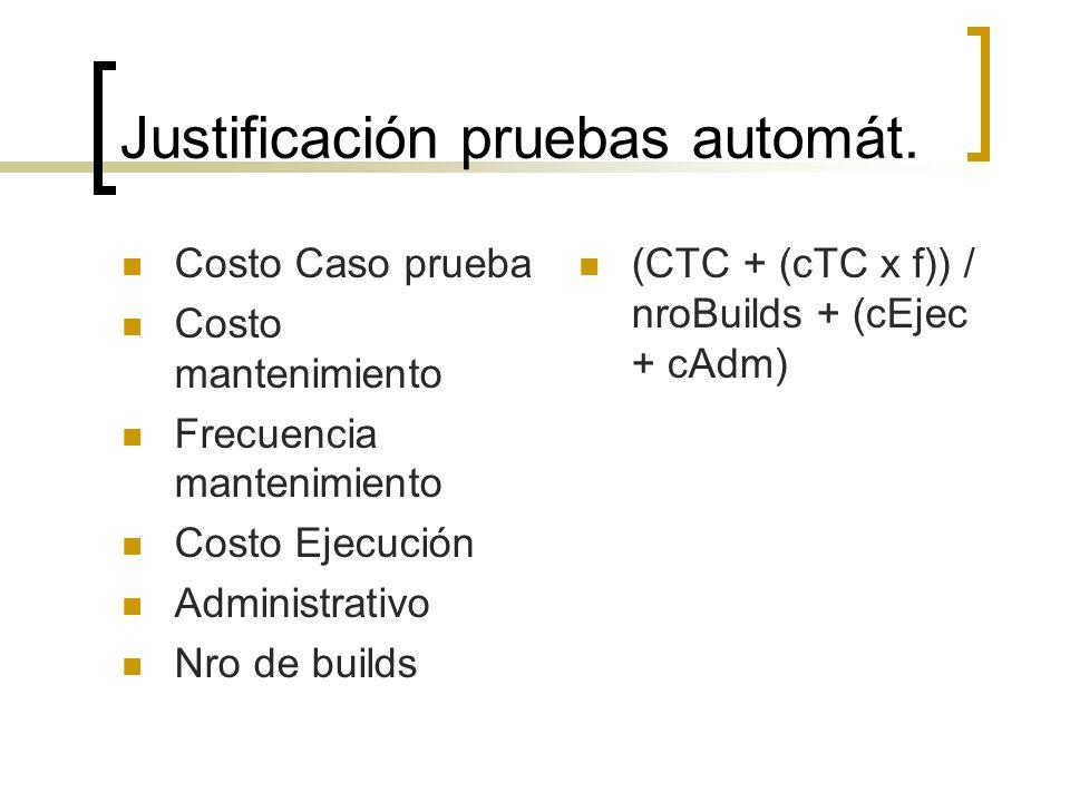 Justificación pruebas automát.