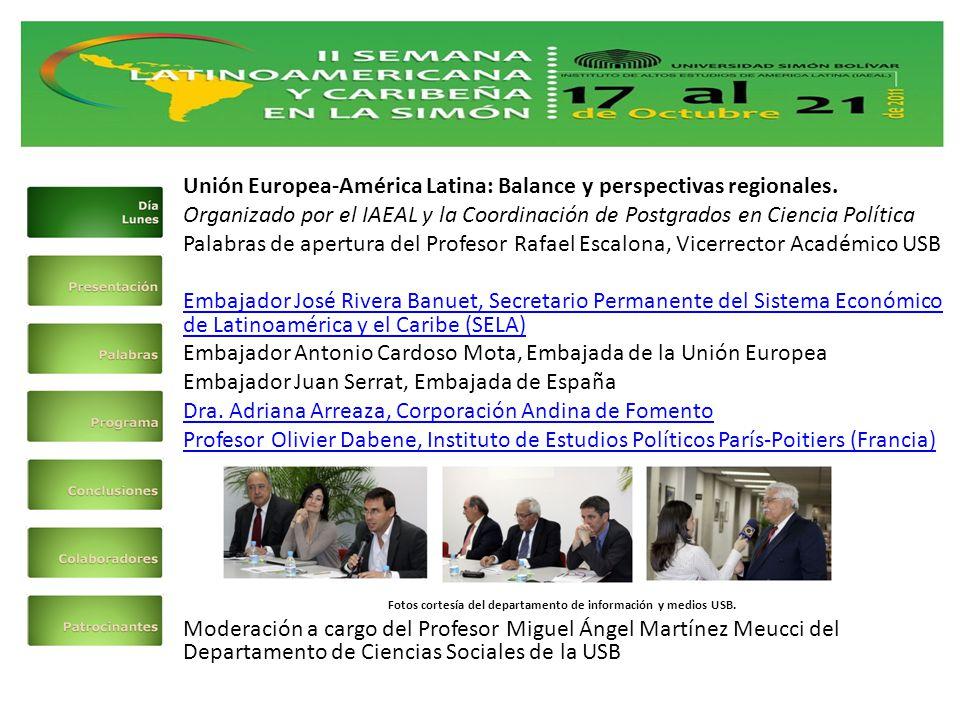 Unión Europea-América Latina: Balance y perspectivas regionales.