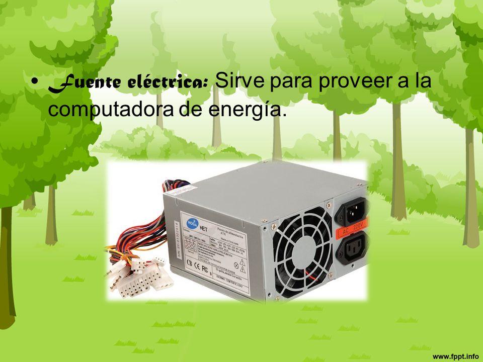 Dispositivos de enfriamiento: (coolers, ventiladores, disipadores de calor )sirve para refrigerar la computadora.