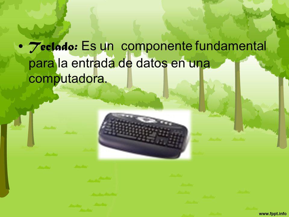 Componentes o periféricos externos de entrada Mouse: dispositivo empleado para mover un cursor en los interfaces gráficos de usuario.