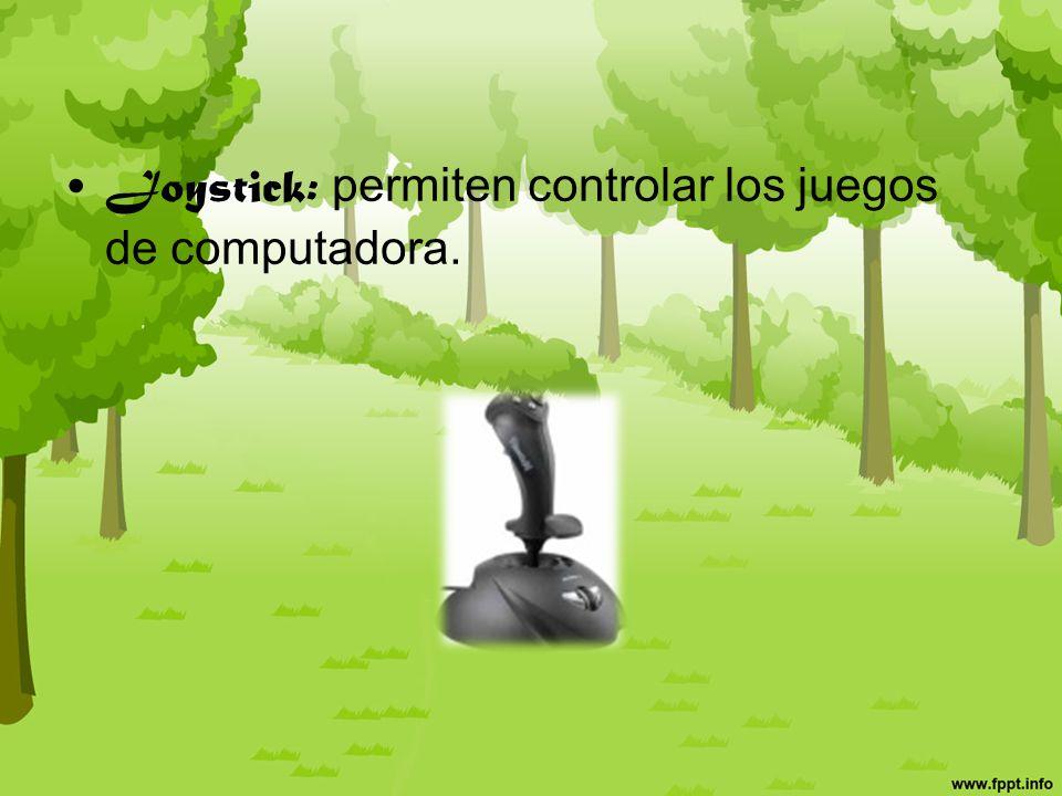 Escáner: permiten digitalizar documentos u objetos.