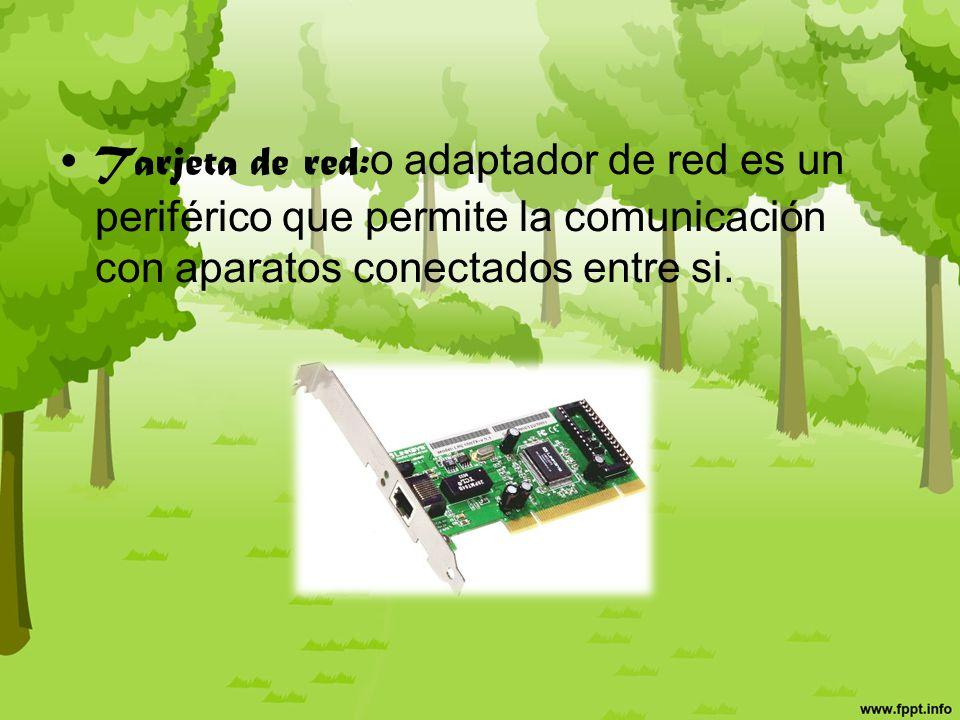 Cables de comunicación: (Bus)Comunica diferentes componentes entre sí.