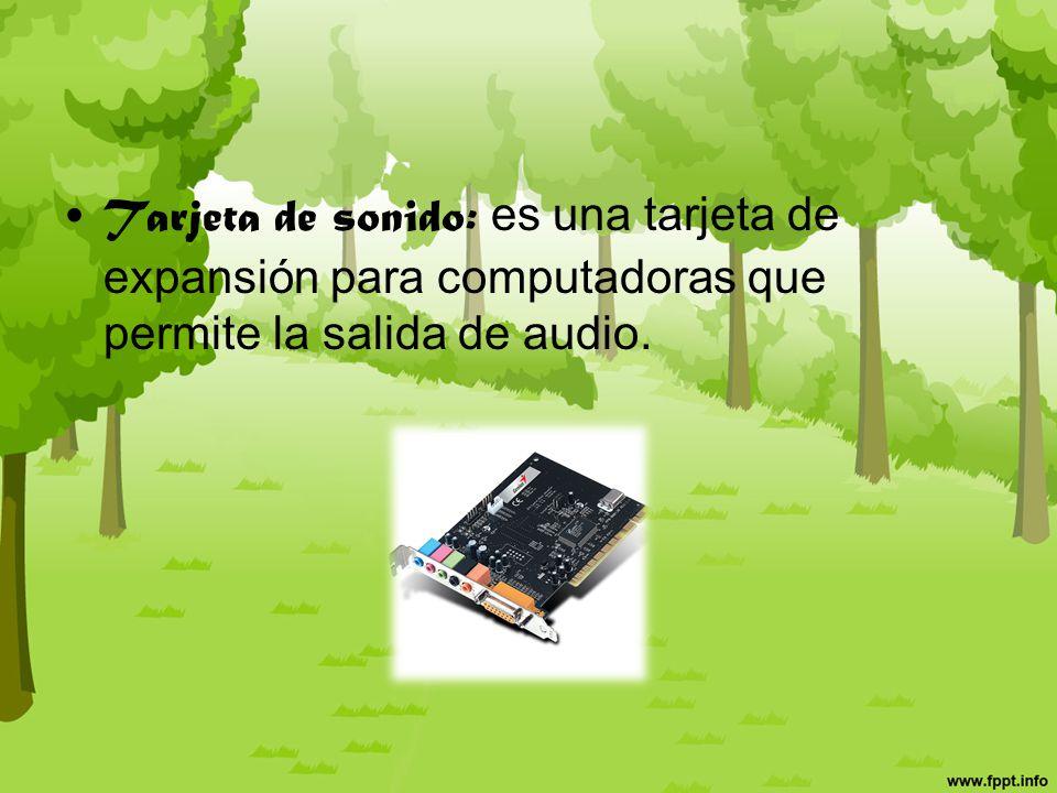 Tarjeta Gráfica: encargada de procesar los datos provenientes de la CPU y transformarlos en información comprensible y representable en un dispositivo de salida, como un monitor.