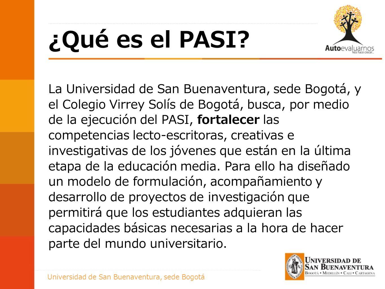 Titulo presentación ¿Qué es el PASI.