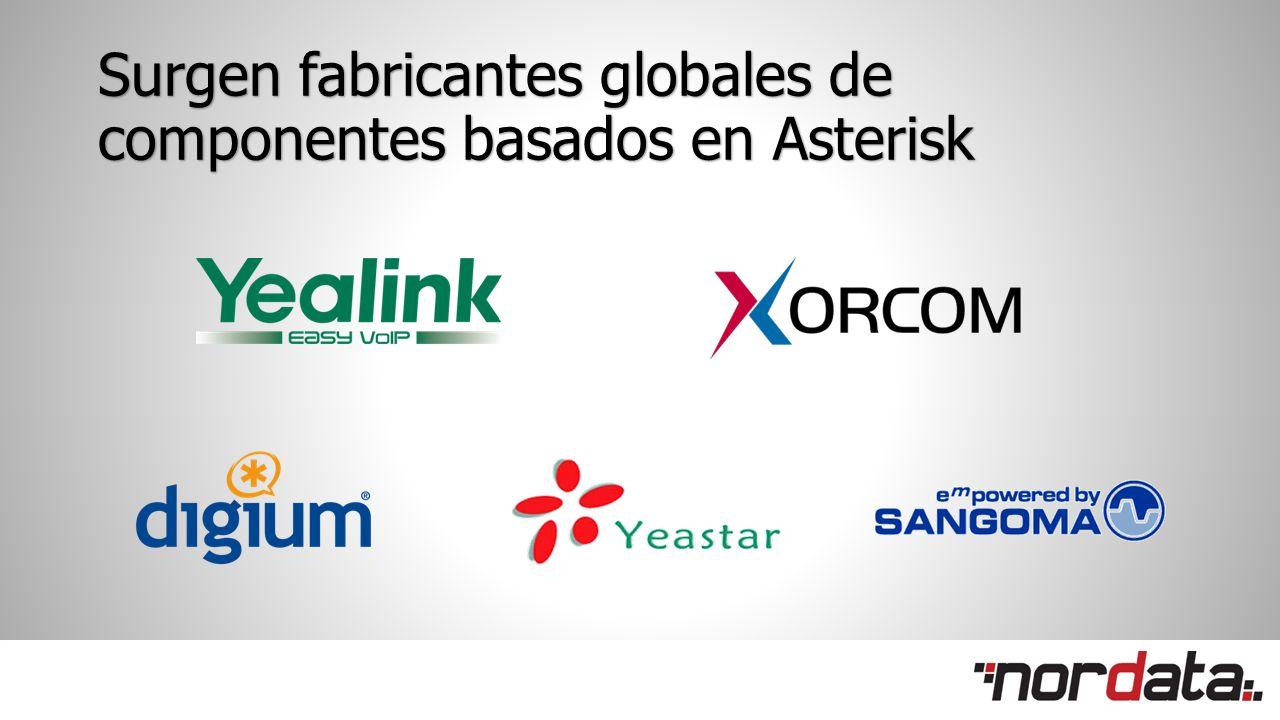Surgen fabricantes globales de componentes basados en Asterisk