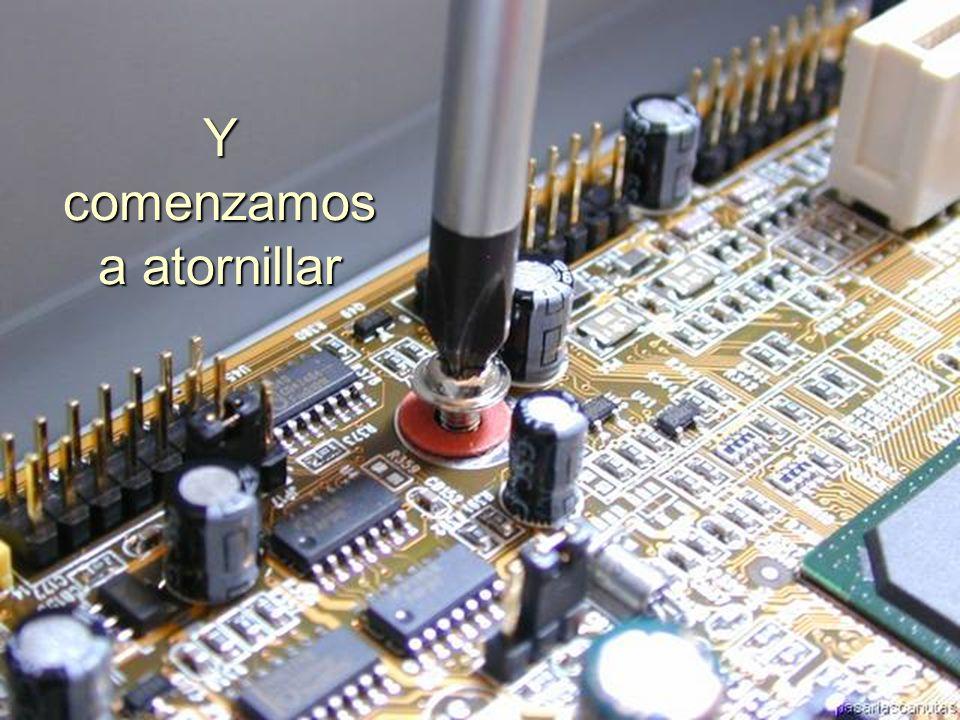 ENSAMBLAJE Y MANTENIMIENTO DE COMPUTADORAS ENSAMBLAJE DE COMPUTADORA UNIVERSIDAD CATOLICA BOLIVIANA SAN PABLO GESTIÓN - 2006 Con unos tornillos sujetamos la T M con el case