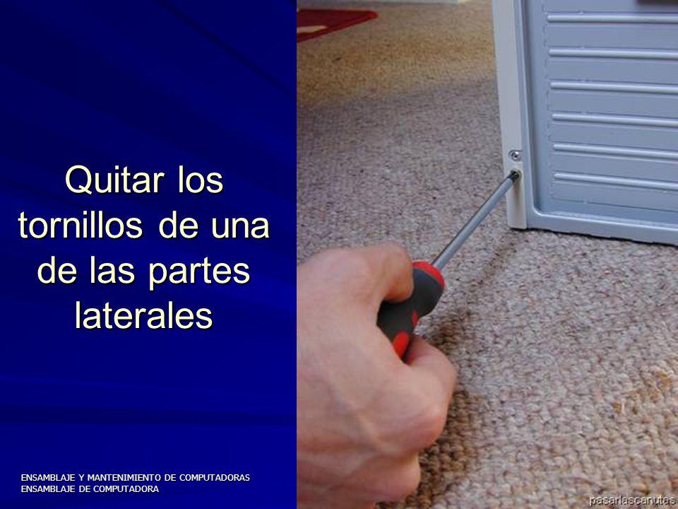 ENSAMBLAJE Y MANTENIMIENTO DE COMPUTADORAS ENSAMBLAJE DE COMPUTADORA UNIVERSIDAD CATOLICA BOLIVIANA SAN PABLO GESTIÓN - 2006 Parte posterior del Case