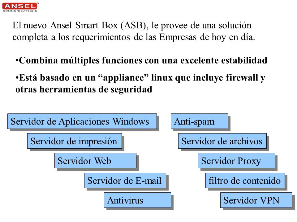 A S B Ansel Smart Box A S B Ansel Smart Box
