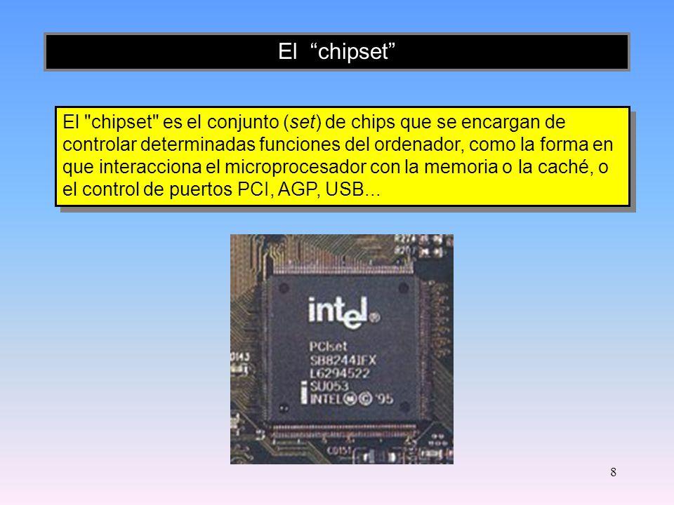 7 Memoria RAM Es la memoria principal donde son ejecutados los programas y procesos de datos de un PC.