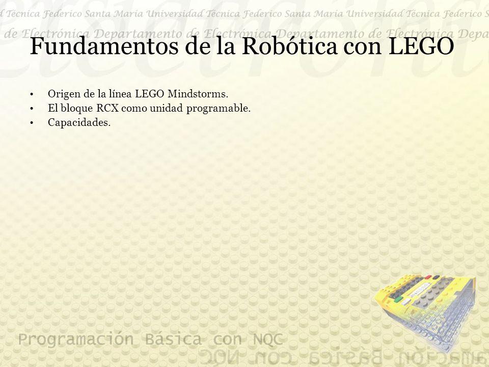 Fundamentos de la Robótica con LEGO Origen de la línea LEGO Mindstorms.