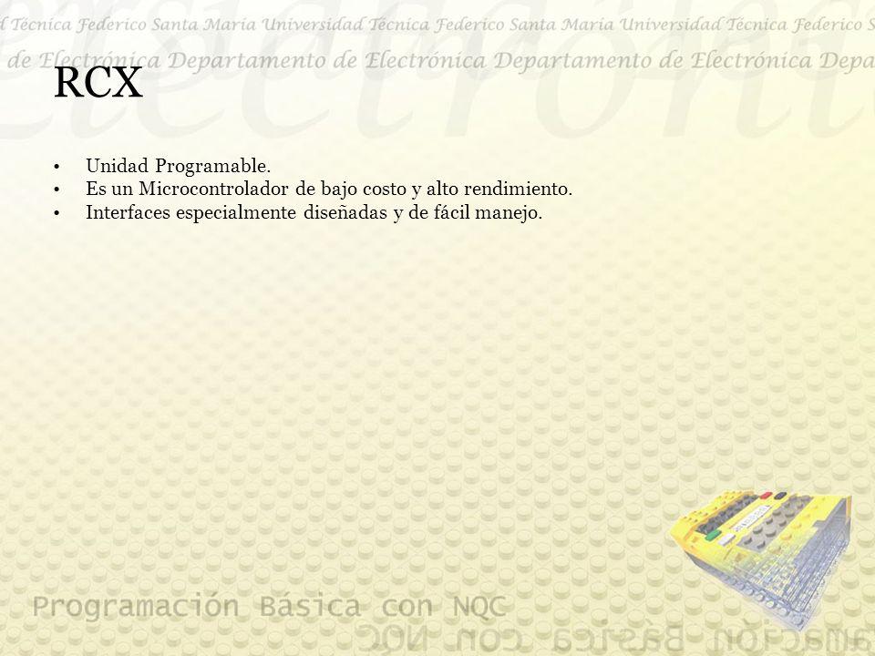 RCX Unidad Programable. Es un Microcontrolador de bajo costo y alto rendimiento.