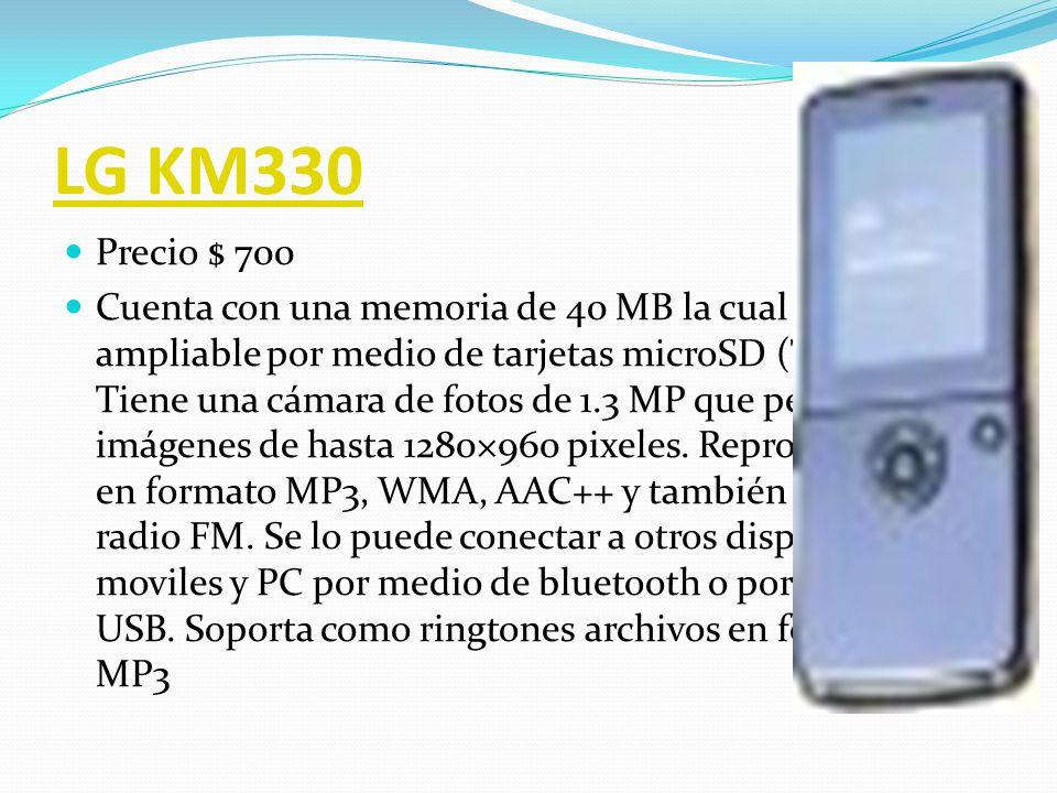 LG KF600 Precio $ 1,000 El KF600 es uno de los celulares más avanzados del mercado; se trata del primer teléfono con Menú Intercambiable, que te coloca a la vanguardia en innovación y funcionalidad.
