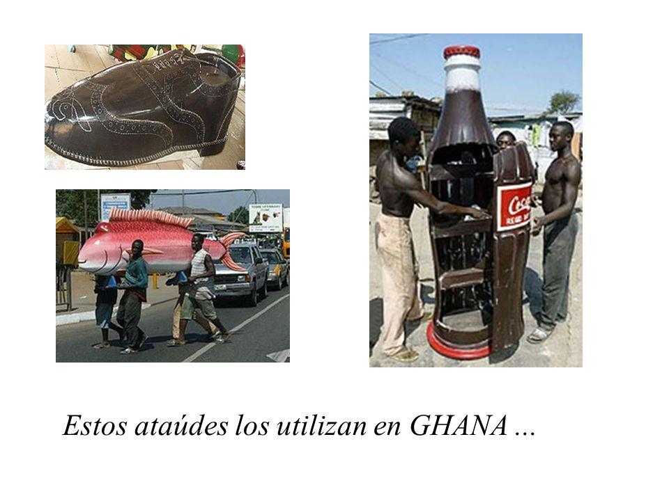 Estos ataúdes los utilizan en GHANA...