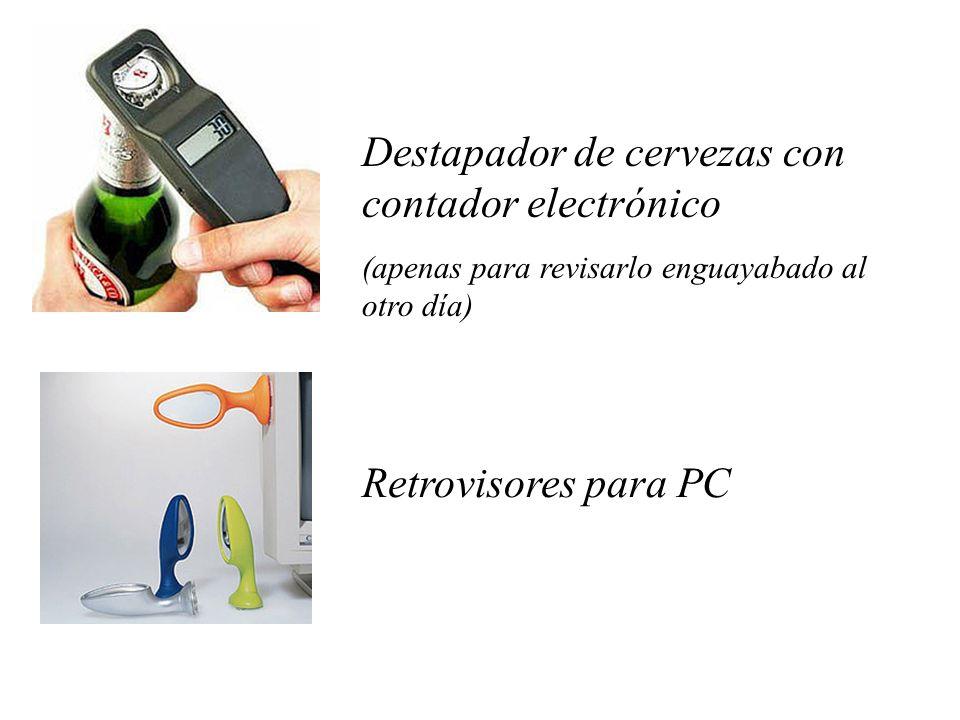 Destapador de cervezas con contador electrónico (apenas para revisarlo enguayabado al otro día) Retrovisores para PC