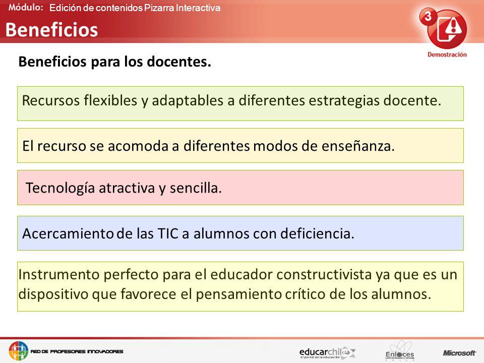 Edición de contenidos Pizarra Interactiva Beneficios para los docentes.