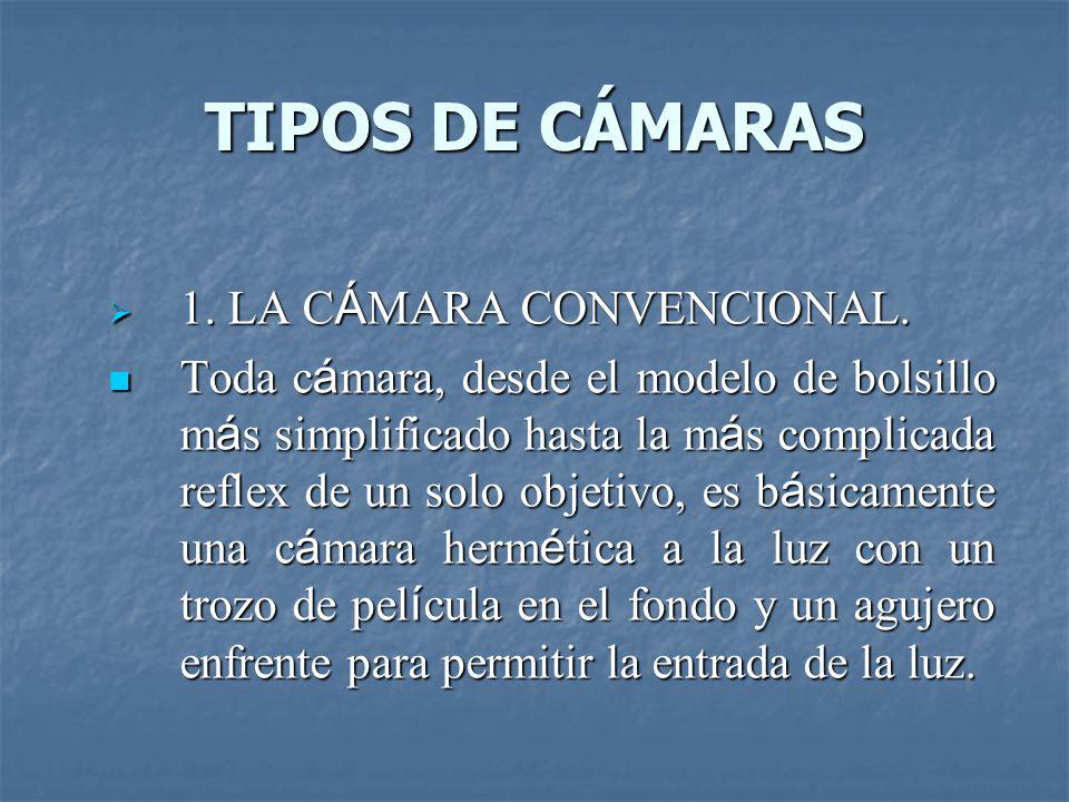 TIPOS DE CÁMARAS  1. LA C Á MARA CONVENCIONAL.