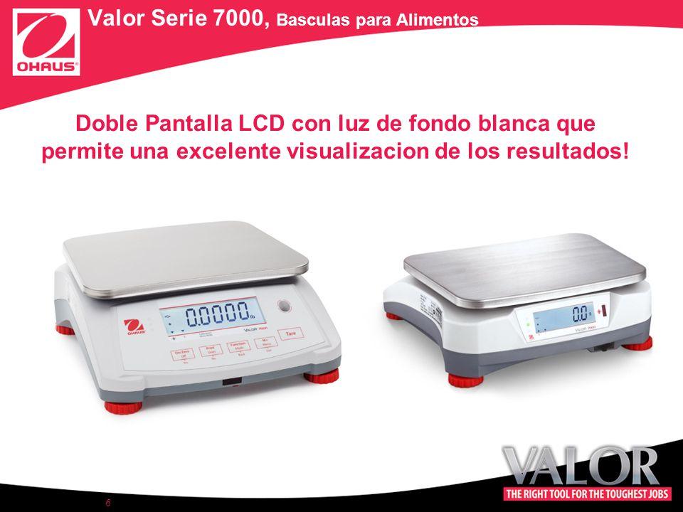 Doble Pantalla LCD con luz de fondo blanca que permite una excelente visualizacion de los resultados.