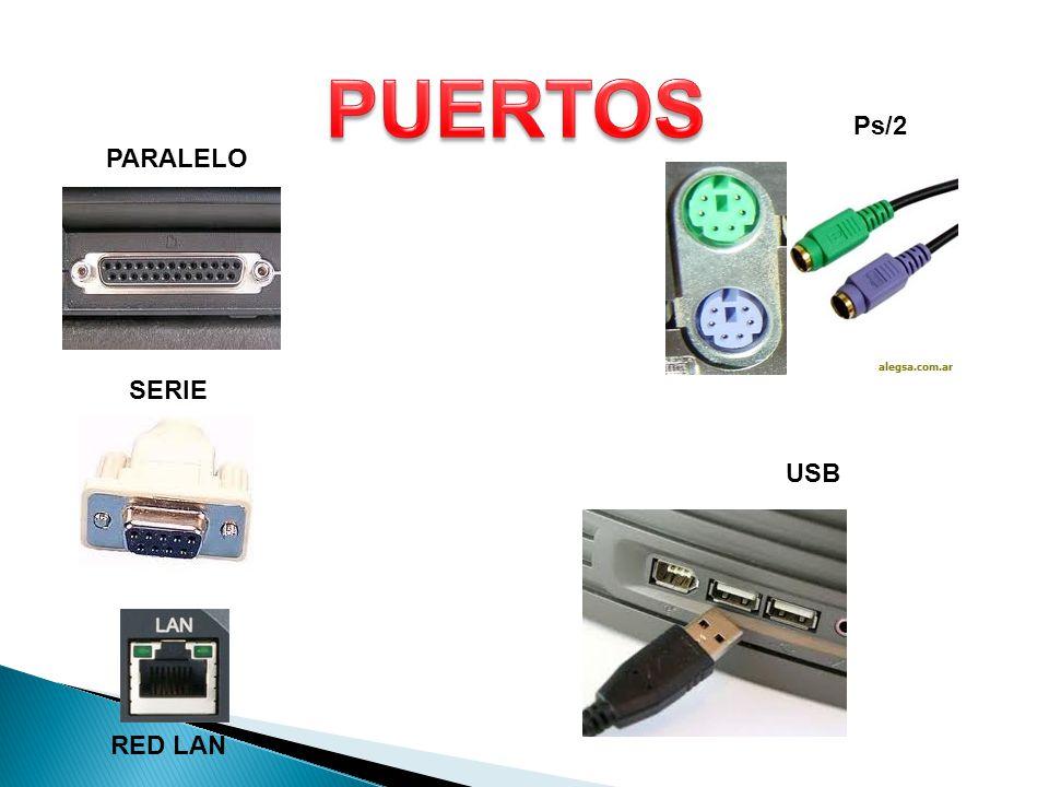 PARALELO SERIE Ps/2 USB RED LAN