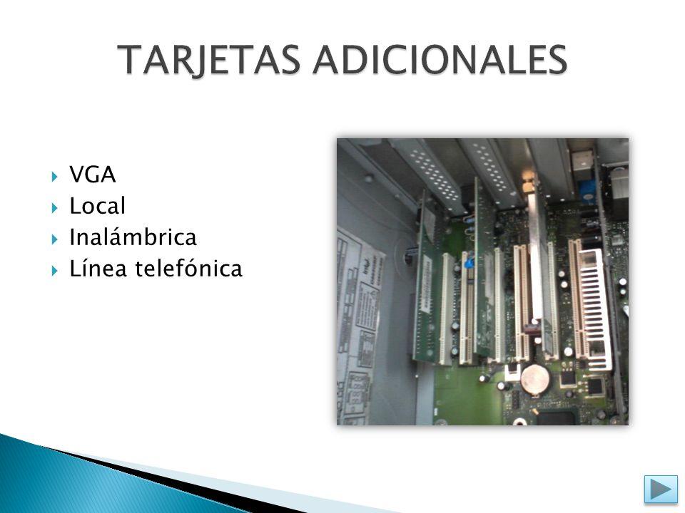  VGA  Local  Inalámbrica  Línea telefónica