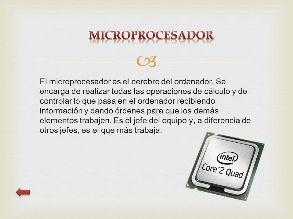  El microprocesador es el cerebro del ordenador.