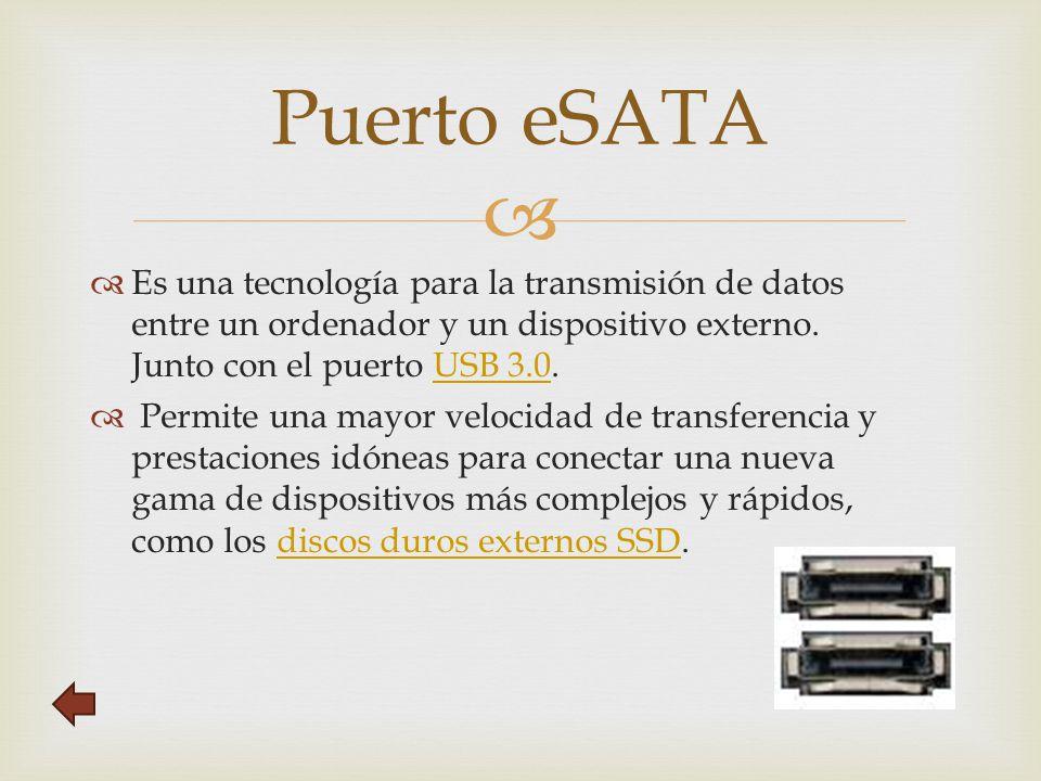   Es una tecnología para la transmisión de datos entre un ordenador y un dispositivo externo.