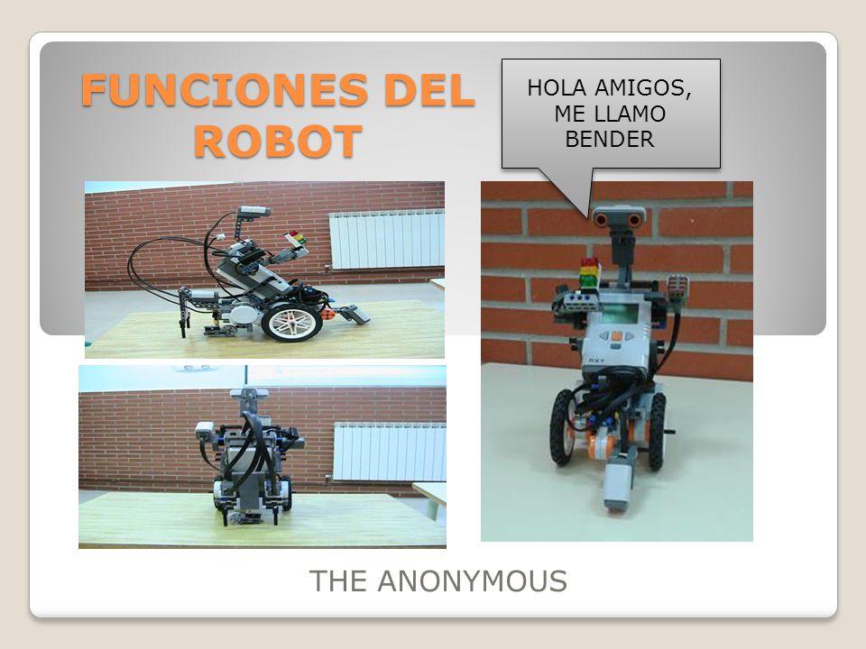 FUNCIONES DEL ROBOT THE ANONYMOUS HOLA AMIGOS, ME LLAMO BENDER