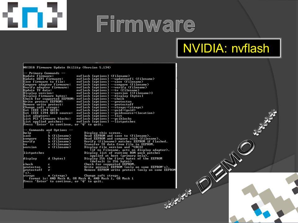 NVIDIA: nvflash