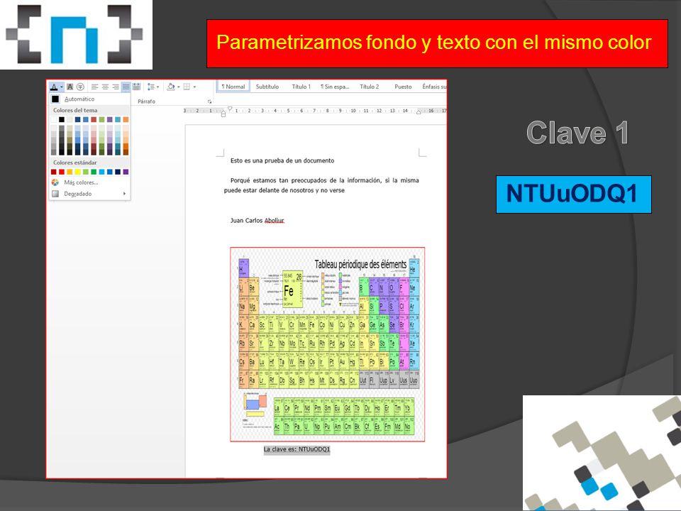 Parametrizamos fondo y texto con el mismo color NTUuODQ1