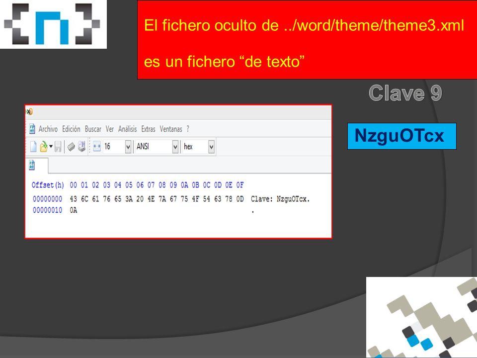 NzguOTcx El fichero oculto de../word/theme/theme3.xml es un fichero de texto