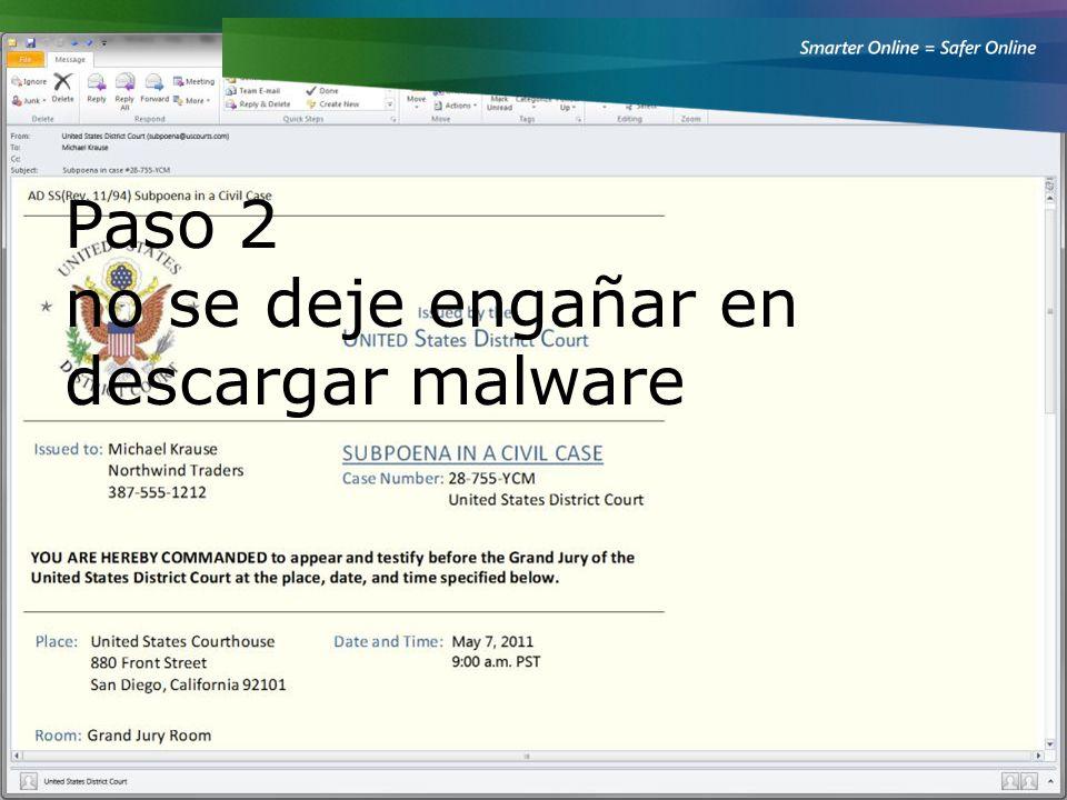 Ahora vamos a hablar acerca de cómo protegerse de los delincuentes que utilizan trucos para llegar a descargar malware a con otra historia.