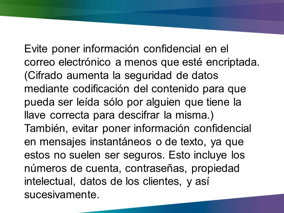 Protección de datos de la empresa y activos financieros Manejar datos confidenciales con especial cuidado Cuidado con las estafas y fraudes Step 3