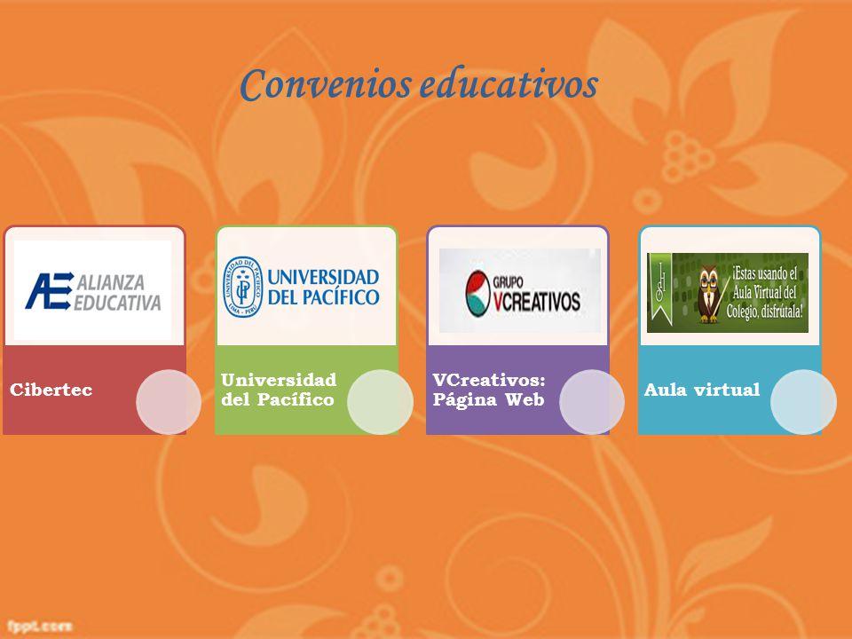 Cibertec Universidad del Pacífico VCreativos: Página Web Aula virtual Convenios educativos