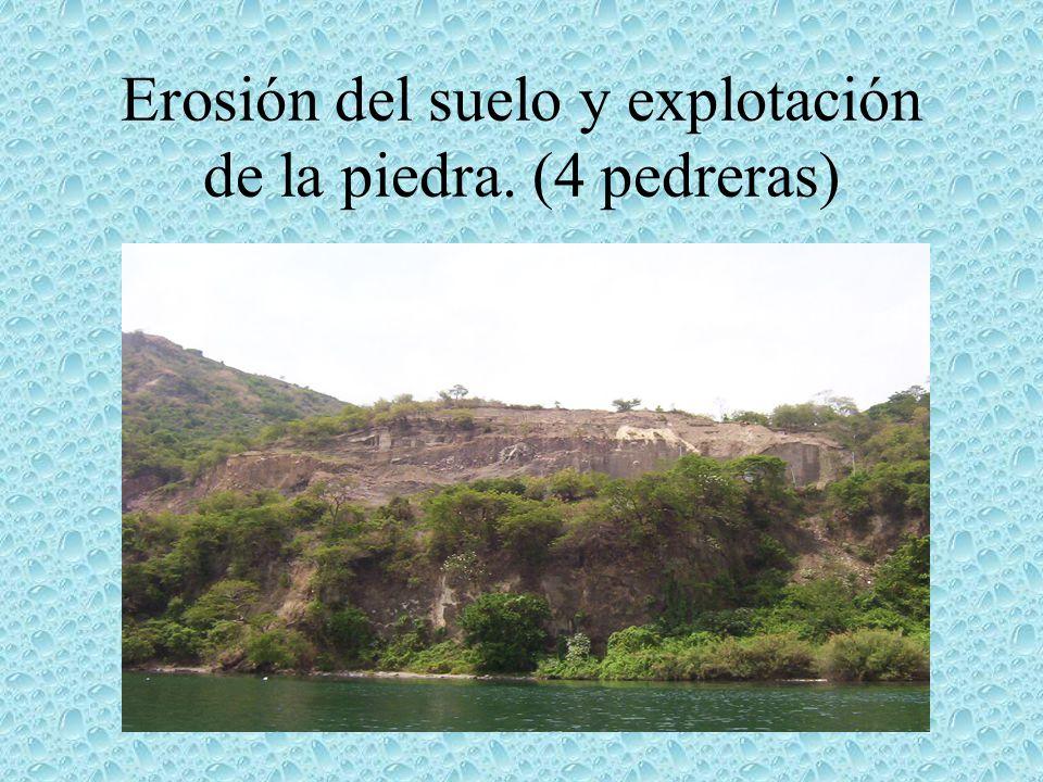 Erosión del suelo y explotación de la piedra. (4 pedreras)