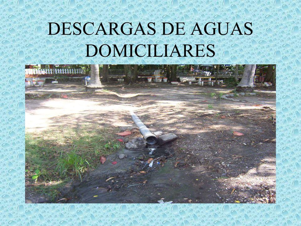 DESCARGAS DE AGUAS DOMICILIARES