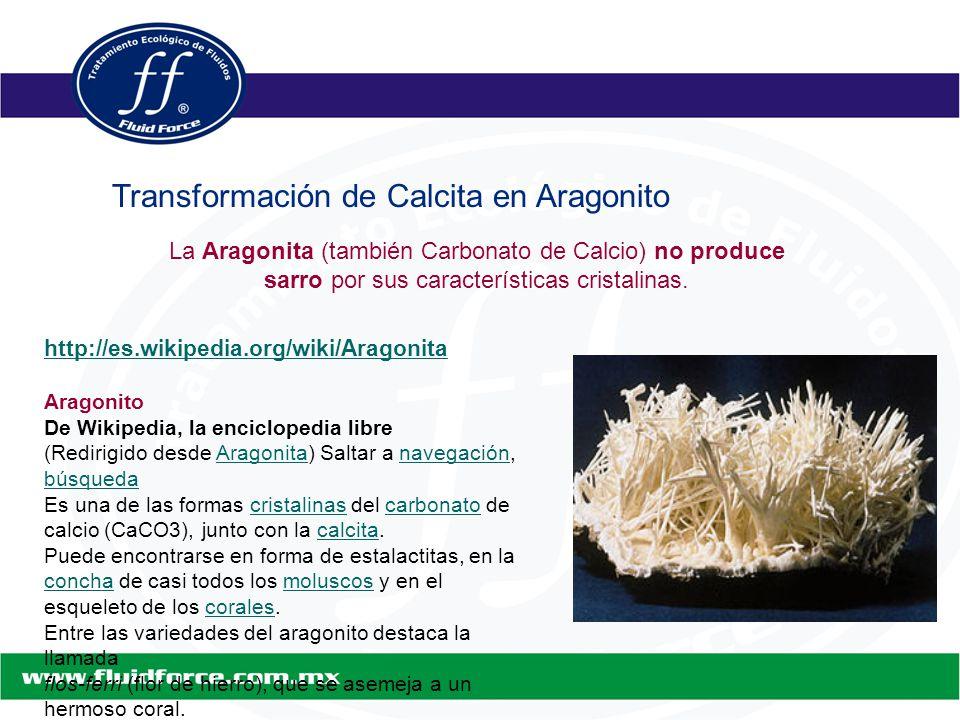 http://es.wikipedia.org/wiki/Aragonita Aragonito De Wikipedia, la enciclopedia libre (Redirigido desde Aragonita) Saltar a navegación, búsquedaAragonitanavegación búsqueda Es una de las formas cristalinas del carbonato de calcio (CaCO3), junto con la calcita.cristalinascarbonatocalcita Puede encontrarse en forma de estalactitas, en la concha de casi todos los moluscos y en el esqueleto de los corales.