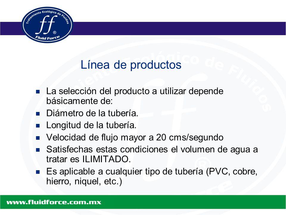 La selección del producto a utilizar depende básicamente de: La selección del producto a utilizar depende básicamente de: Diámetro de la tubería.