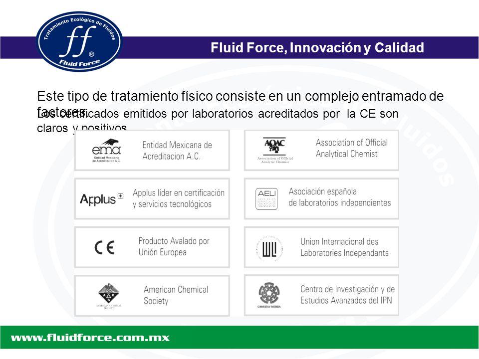 Fluid Force, Innovación y Calidad Este tipo de tratamiento físico consiste en un complejo entramado de factores.