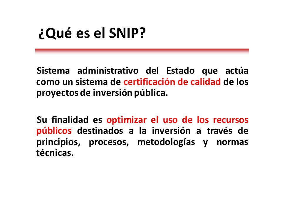 ¿Qué es el SNIP.