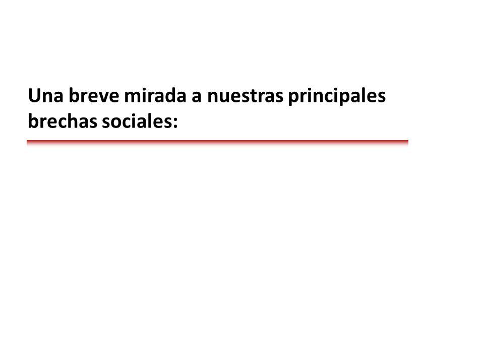 Una breve mirada a nuestras principales brechas sociales: