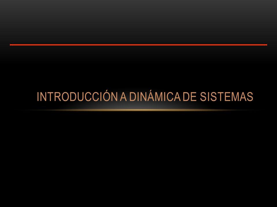 INTRODUCCIÓN A DINÁMICA DE SISTEMAS