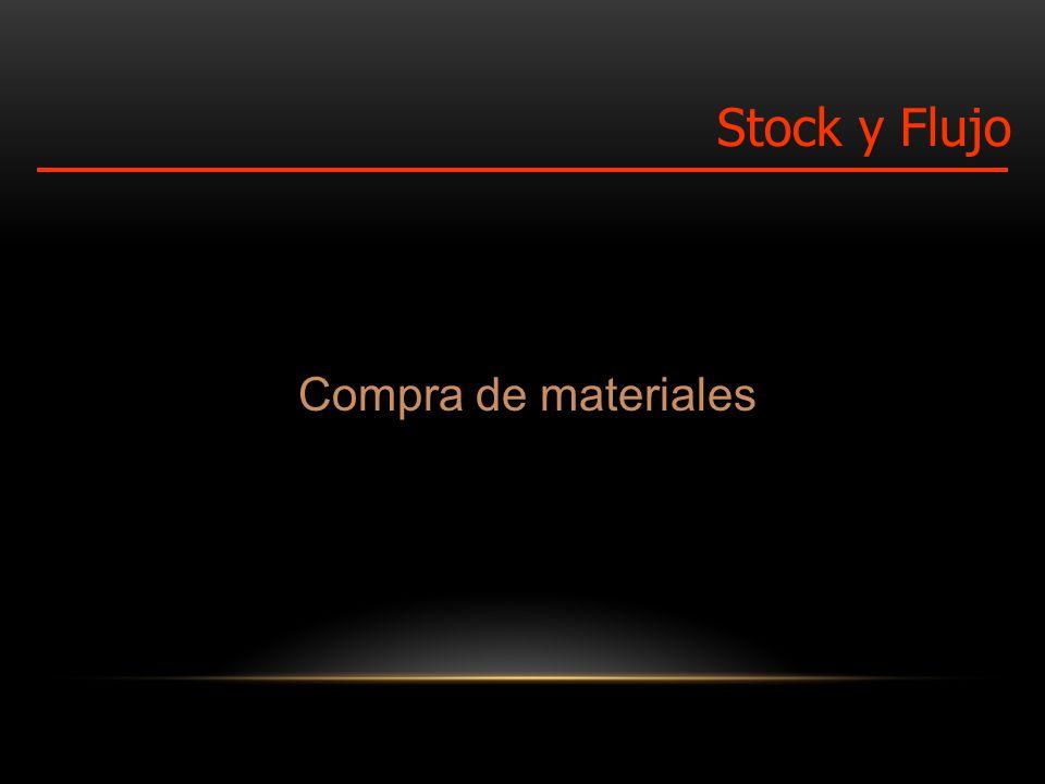 Compra de materiales Stock y Flujo