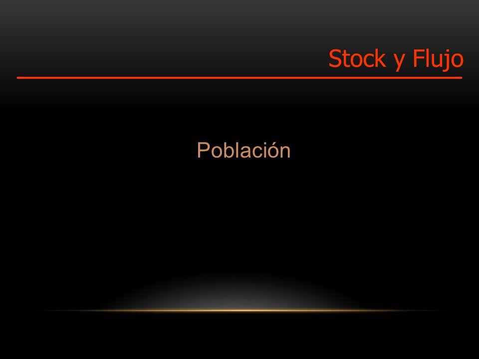 Población Stock y Flujo