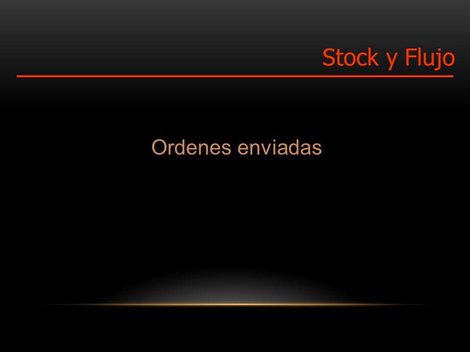 Ordenes enviadas Stock y Flujo