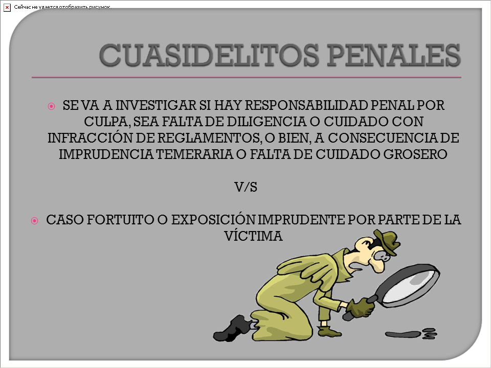  SE VA A INVESTIGAR SI HAY RESPONSABILIDAD PENAL POR CULPA, SEA FALTA DE DILIGENCIA O CUIDADO CON INFRACCIÓN DE REGLAMENTOS, O BIEN, A CONSECUENCIA DE IMPRUDENCIA TEMERARIA O FALTA DE CUIDADO GROSERO V/S  CASO FORTUITO O EXPOSICIÓN IMPRUDENTE POR PARTE DE LA VÍCTIMA