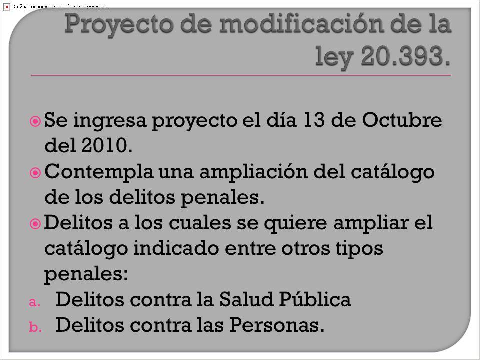  Se ingresa proyecto el día 13 de Octubre del 2010.
