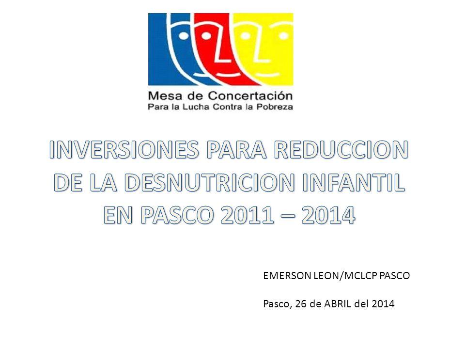 EMERSON LEON/MCLCP PASCO Pasco, 26 de ABRIL del 2014