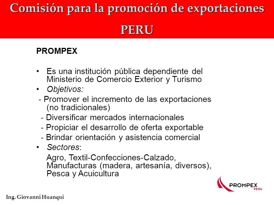 Comisión para la promoción de exportaciones PERU Ing.