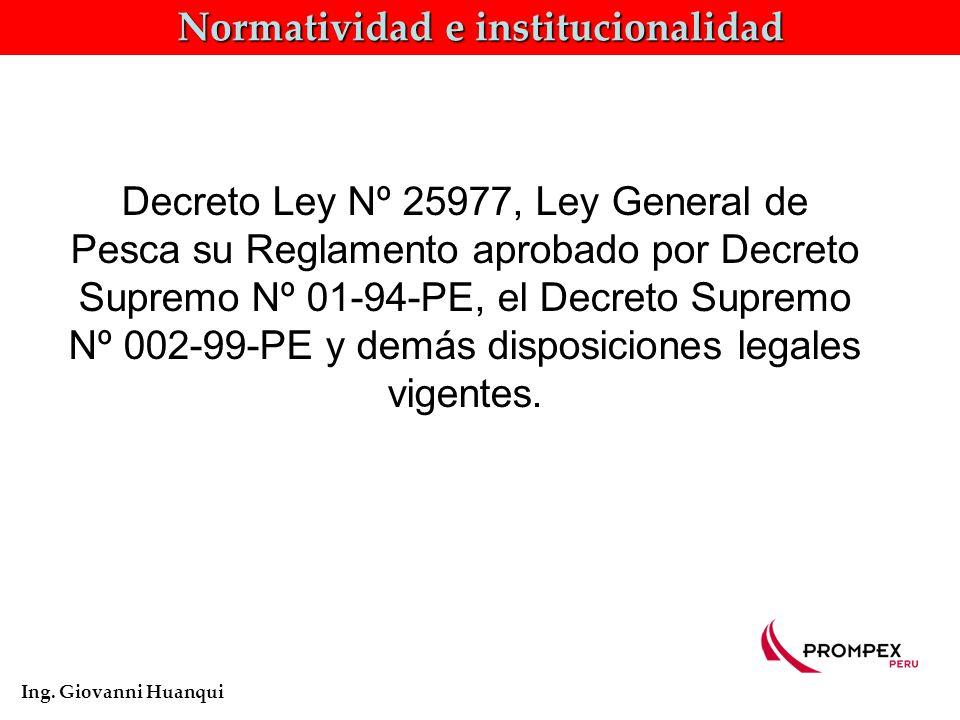 Normatividad e institucionalidad Ing.