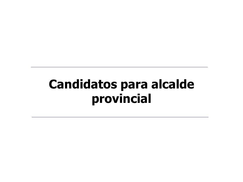 Candidatos para alcalde provincial